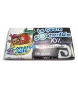 Chocolate 70% Cacao Cesta Sostenible 100 g (Caja 20 tabletas)