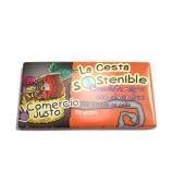 Chocolate Negro con Almendras Cesta Sostenible 100 g (Caja 20 tabletas)