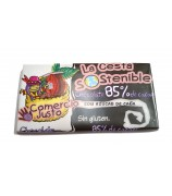 Chocolate 85% Cacao Cesta Sostenible 100 g (Caja 20 tabletas)