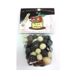 Frutos Secos Bañados en Chocolates Variados Cesta Sostenible 100gr (Pack 12ud)