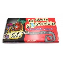 Chocolate Negro 50% Cacao Cesta Sostenible 100 g (Caja 20 tabletas)