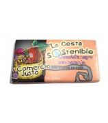 Chocolate Negro con Naranja Cesta Sostenible 100 g (Caja 20 tabletas)